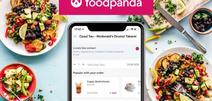 foodpanda introduce o nouă funcționalitate în aplicație: butonul Livrare fără contact