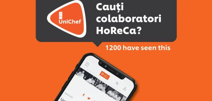 Secțiune nouă de joburi și colaborări HoReCa în aplicația UniChef